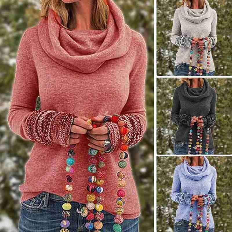 Осенне зимний новый кашемировый свитер женский свободный пуловер с высоким воротом толстый свитер короткий свитер|Водолазки|   | АлиЭкспресс
