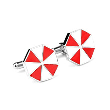 Hot Movie Residents Evils Umbrella Coporation Mancuerna Metal  бижутерия Cufflinks on Shirts кольцо бижутерия 2488497ак