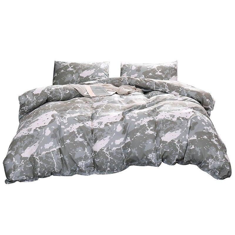 Ev ve Bahçe'ten Yatak Takımları'de 3 adet baskılı kumlu yorgan kapak nevresim takımı ev tekstili yatak örtüsü abd Polyester düz levha yastık ev yatak seti title=