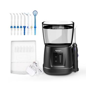 Irygator doustny V700P wodoodporny IPX7 środek do czyszczenia zębów 1000ml pojemność Flosser irygator wodny przenośny stomatologiczny Flosser z 8 sztuk końcówek odrzutowych tanie i dobre opinie AQUAPRO CN (pochodzenie) Elektryczny irygator do jamy ustnej dla dorosłych D210022ND Electric Dental Flosser 13*13*13 5cm