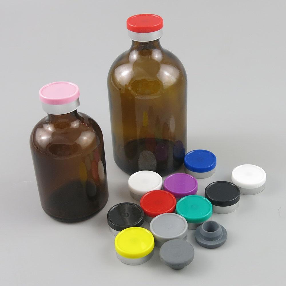 100ML 50ML Empty Amber Injection Glass Vial with Plastic Flip Top Cap 100CC Transparent Liquid Medicine Glass Containers 200pcs