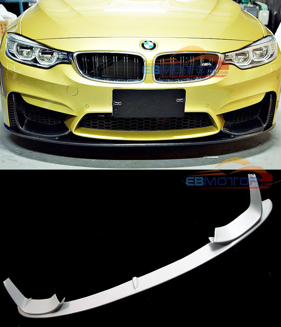 UNPAINTED P Style Fiber Front Lip Spoiler For BMW F80 M3 F82 F83 M4 Bumper 2014UP B171F image