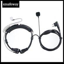 Mic Motorola Microphone Extendable Earpiece-Headset Walkie-Talkie Throat EP450 CP200