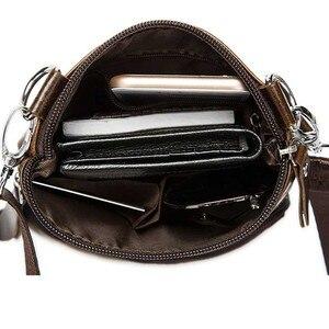 Image 2 - Genuine Leather shoulder bags men Crossbody Bag Designer Natural cowhide Shoulder Bags Vintage Small Flap Pocket Handbag