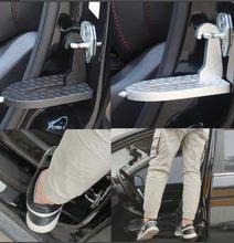 Dobrável porta do carro pedal passo universal auto telhado bagagem escada gancho pé pegs porta de segurança martelo ^