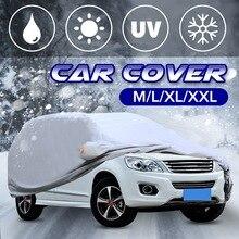 Универсальный 4 размера M, L, XL, XXL Серебряный чехол для автомобиля с защитой от ультрафиолета, дождя и солнца, защита от тепла, пылезащитный чехол для улицы