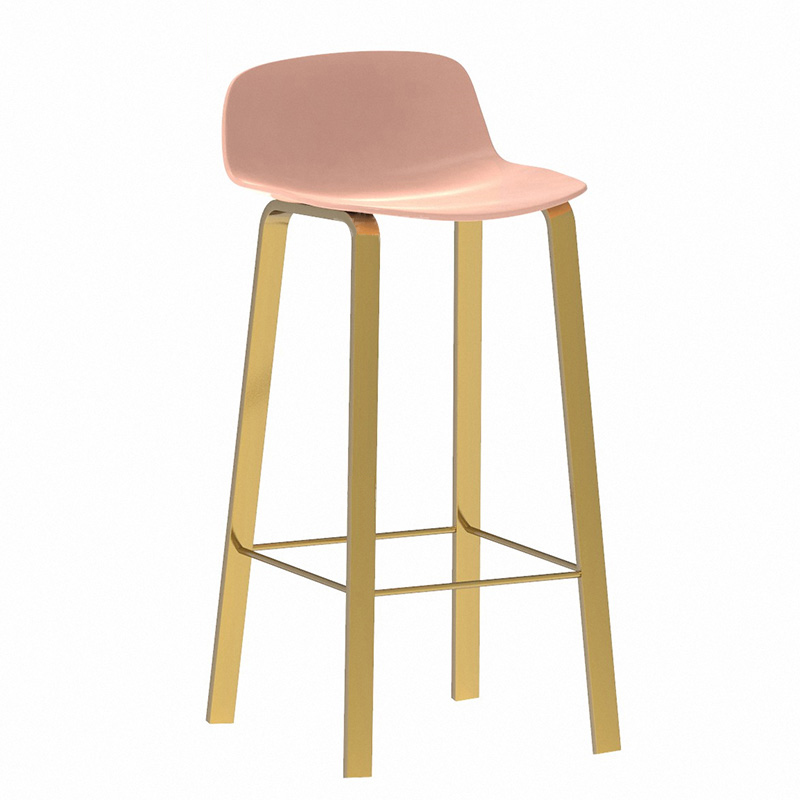 Nordic Light Luxury Ins Bar Chair Iron Household Bar Chair Leisure Bar Stool Net Red Back Dining Chair High Stool