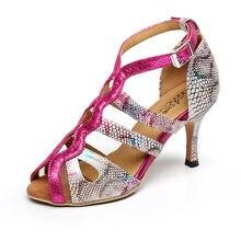 Wwoman из искусственной кожи; Обувь для латинских бальных танцев