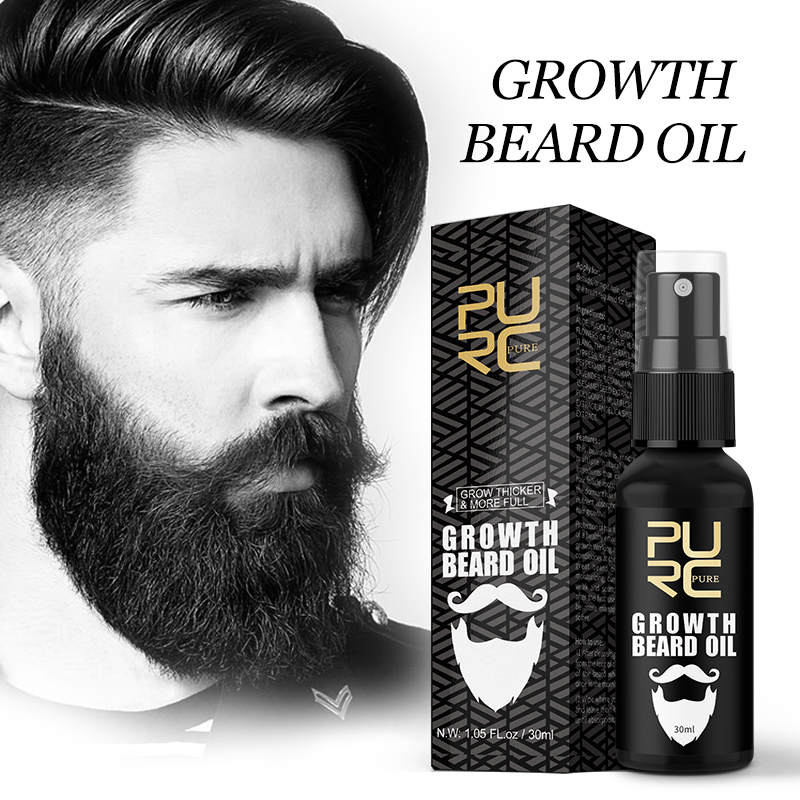 PURC Growth Beard Oil Grow Beard thicker & more full  thicken Hair Beard Oil|Hair Loss Products|   - AliExpress