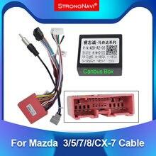 Сильный navi Android автомобильный Радио плеер Мощность кабель 16 PIN адаптер для Mazda 3/5/7/8/CX-7 с can-bus коробка радио жгут проводов