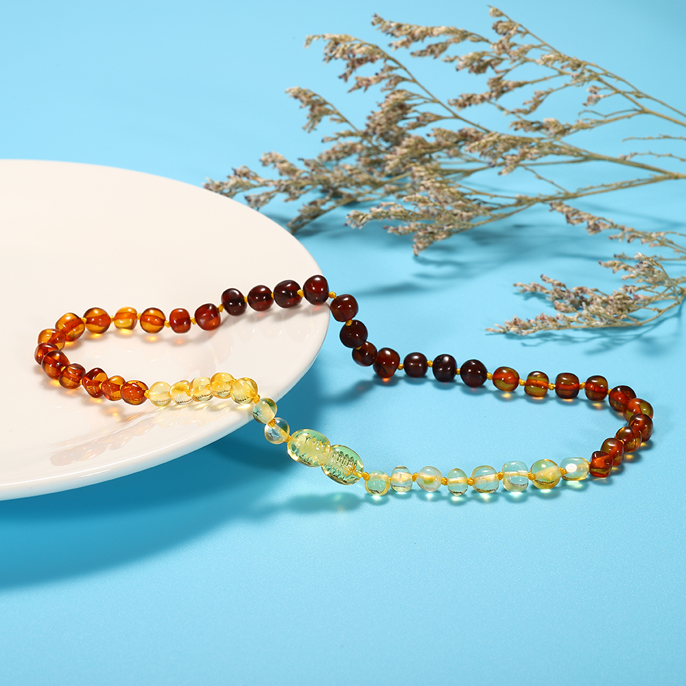 HAOHUPO Necklace-Certificate Amber-Stone Baltic Natural-Amber Baby Genuine Gift Classic