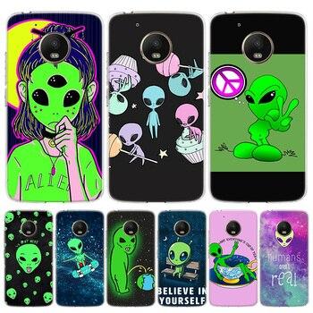 Lindo alien de dibujo espacio teléfono caso para Motorola Moto G8 G7...