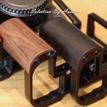 Impugnatura a mano con piastra a sgancio rapido L staffa per Canon EOS R5 nero fatto a mano Arca Swiss