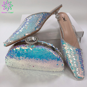 Latest Fashion Nigerian Shoes and Matching Bags Ladies Shoes with Matching Bags Set Matching Shoes and Bag Set In Heels