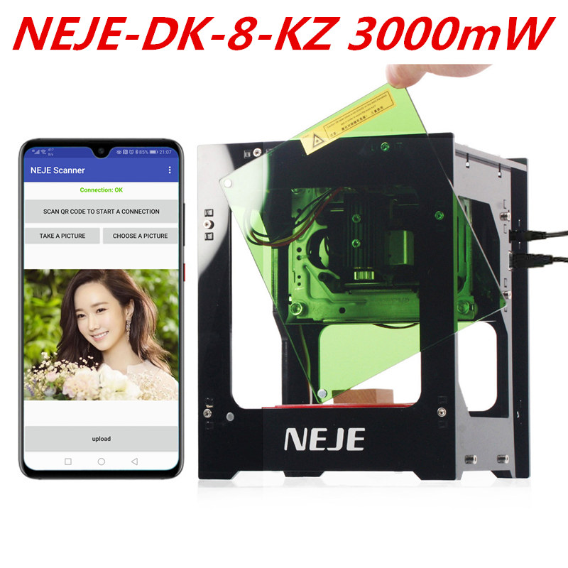 NEJE 2019 Hot Selling New 3000mw 450nm Ai Laser Engraver Wood Router DIY Desktop Laser Cutter Printer Engraver Cutting Machine