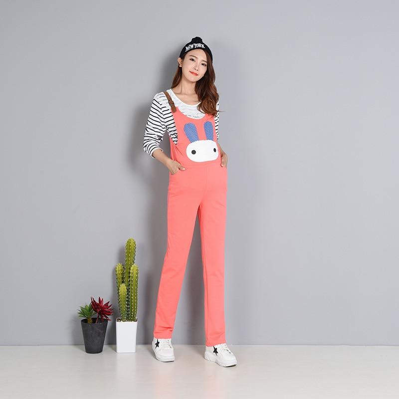 Fashion Maternity Overalls For Women Elegant Pregnancy Jumpsuit Casual Plus Size Romper Pants Fall Winter Cartoon Kawaii