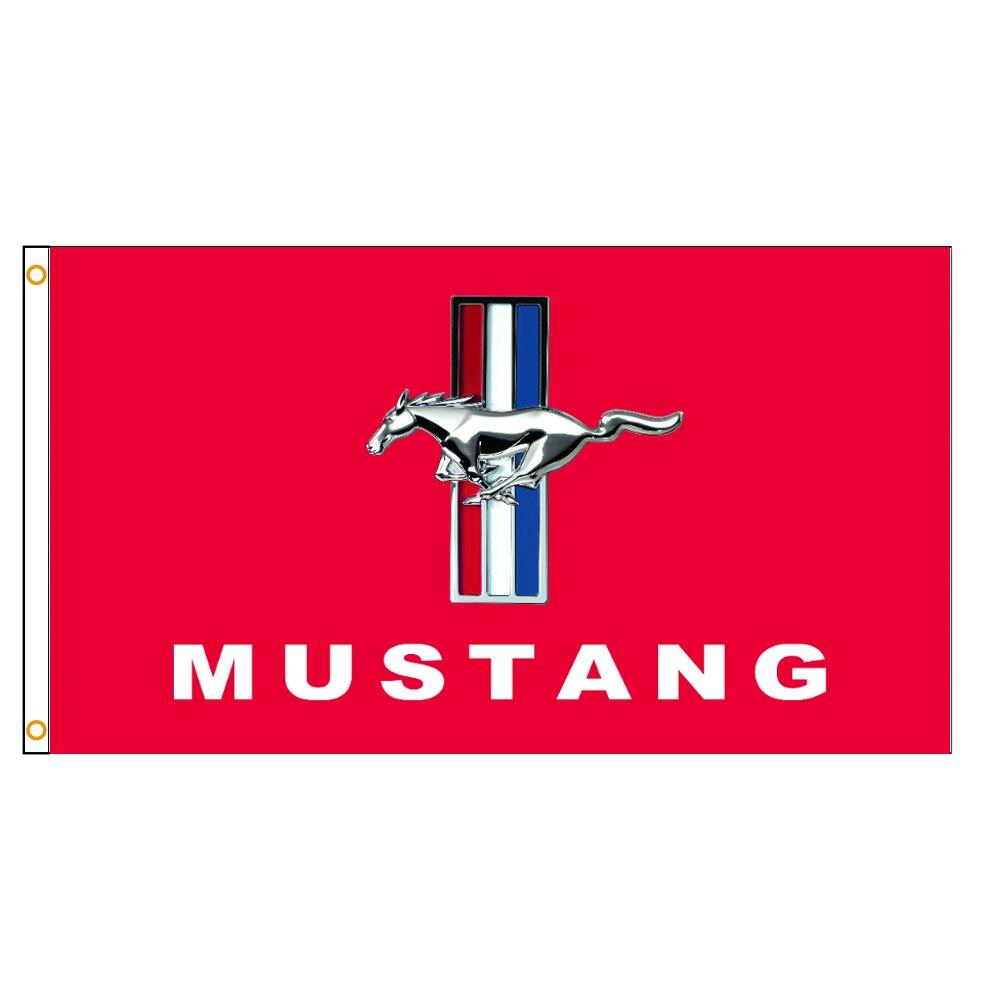 Автомобильный флаг Ford Mustang 3x5 футов