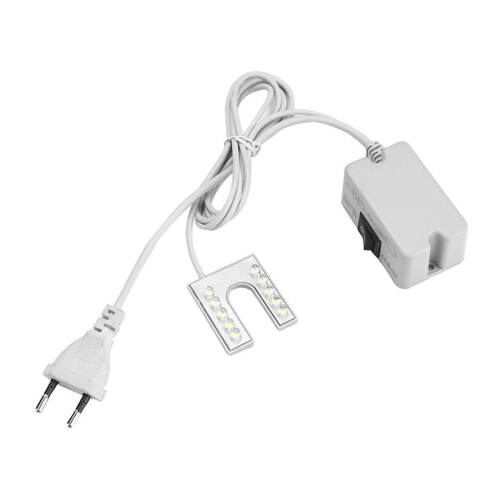 LED Light Flexible Gooseneck Lamp With Magnetic Base For Sewing Machine 110-265V EU Plug