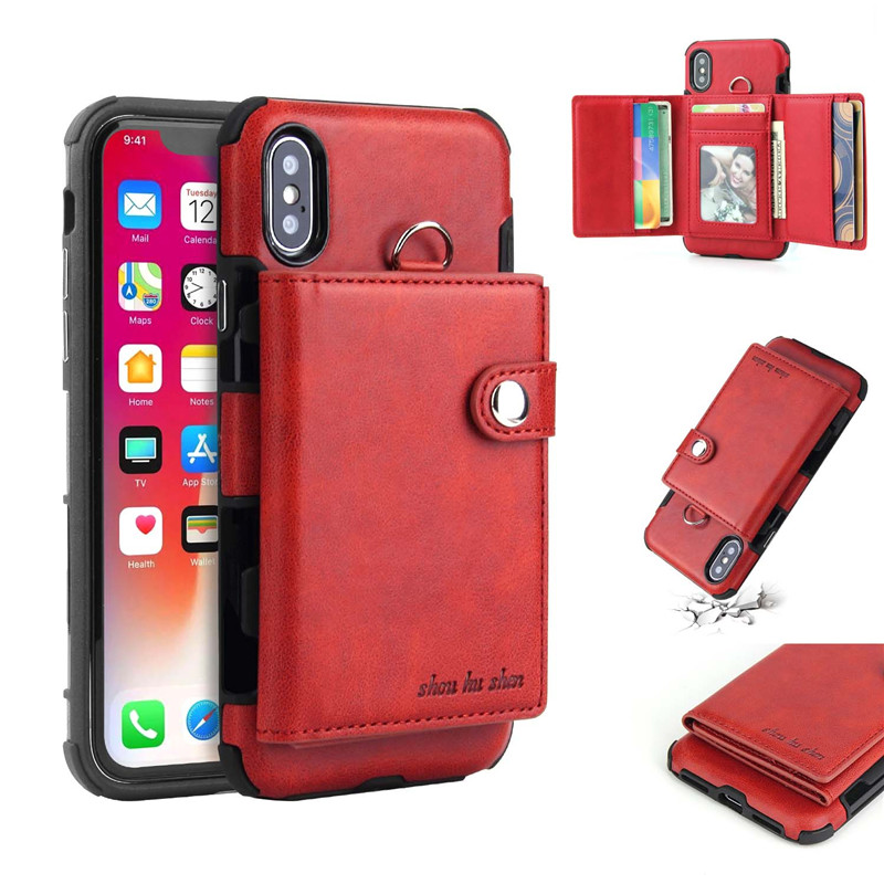 H792d207ad5594948814cbf7e1b8095eeS Tikitaka Wallet Leather Phone Case For iPhone 6 6s Plus X XS XR Multifunction Card Slots Flip Cover For iPhone XS MAX 8 8 Plus