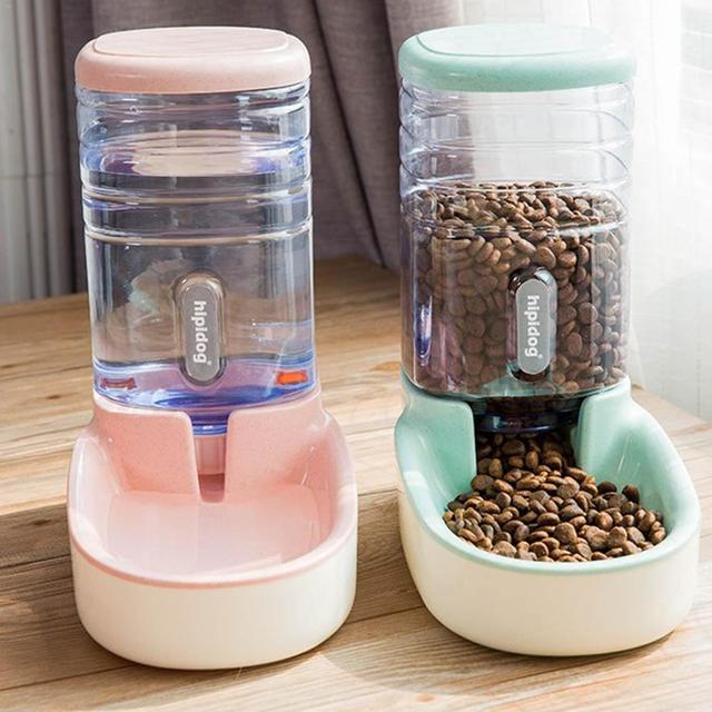 Automatic Water Feeder 3.8L Food Storage Bucket & Cat Water Fountain Dispenser 1