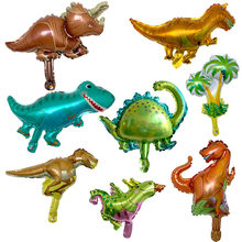 10 pçs mini dinossauro folha balão meninos balões animais crianças dinossauro festa de aniversário jurássico decorações balão