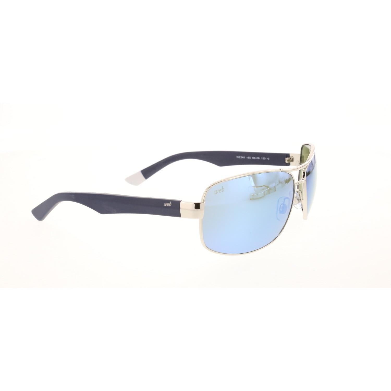 Men's sunglasses w 0240 16x metal silver crystal rectangle rectangular 65-16-130 web
