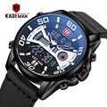 Оригинальные мужские часы KADEMAN, новая технология, роскошные спортивные часы, 3ATM, ЖК-дисплей, наручные часы, повседневные кожаные часы, Relogio ...