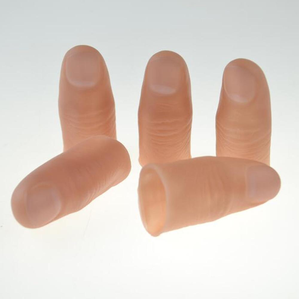 5pcs Hard Thumb Tip Finger Fake Magic Tricks Close Up Magia Appear Vanish  Finger Magie Illusion Gimmick Props Toys For Kids