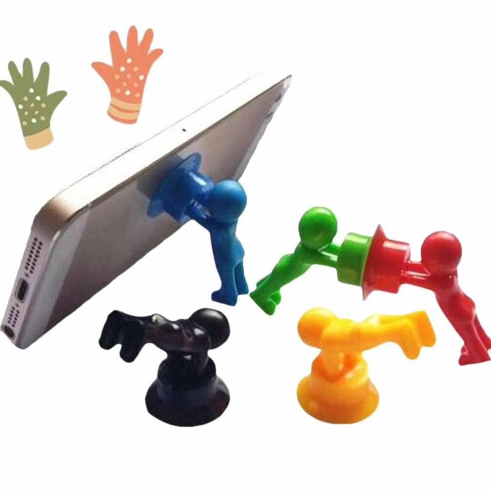 Universial מיני נייד טלפון מחזיק מעמד פרייר עבור טלפון נייד Tablet טלפון סלולרי Stand הר שולחן עבודה סוגר אקראי צבע