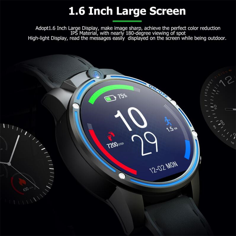 KOSPET Vision 3 ГБ 32 ГБ 5.0MP двойная камера GPS Спорт Android Смарт часы 1,6 800 мАч Bluetooth Smartwatch для мужчин для IOS Android - 3