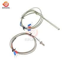 Sonde de Type K en acier inoxydable PT100, capteur de température de Thermocouple avec vis M6 M8, câble de 100cm 1M 2M