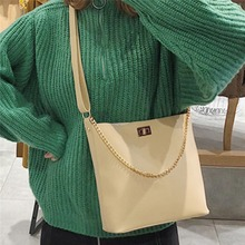 2019 New Womens Solid Color Crossbody Shoulder Bag Bucket Casual Wild High Quality PU Leather