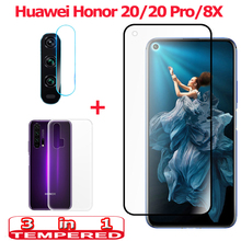 3-in-1 Tempered Glass for Huawei Honor 20 Pro Honor 8X Camera Glass Honor 20 Screen Protector Film Honor 8X Honor 20 Pro Glass glass for honor 8x 20 tempered glass screen protector huawei honor 20 8x glass screen protector hononr 20 phone protective film
