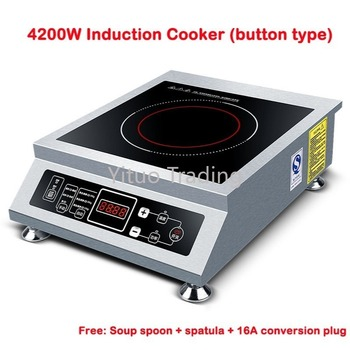 Commercial Household Push-button Single-head Induction Cooker 3500W-5000w High-power Electromagnetic Heating Frying Stove induction cooker 15kw high power canteen concave cooker cooktop fry restaurant commercial electric frying stove cooking utensils