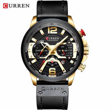 Curren Quartz Watches gold black watch