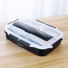 New Portable Dividing Grid Double-layer Lunch Box Sealed Insulated Food Container  Leakproof Proof