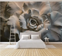 Custom wallpaper 3D stereo photo mural embossed rose living room bedroom background wall painting papel de parede 3d