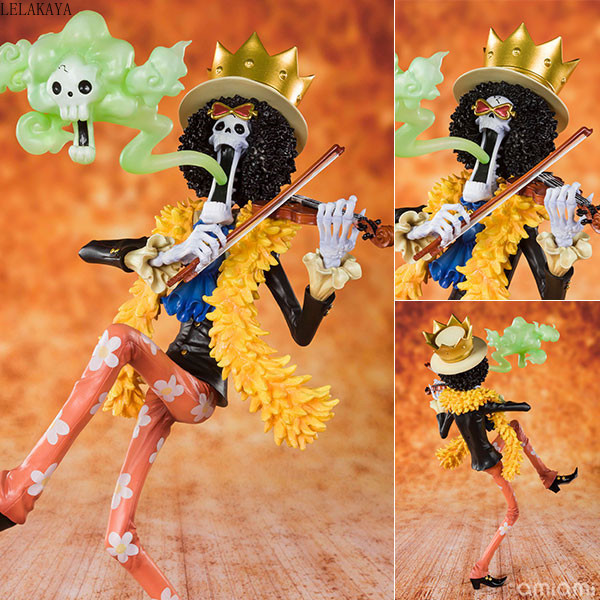 Image 2 - NEW hot 23cm Japan Anime ONE PIECE 20th Anniversary The Straw Hat Pirates BROOK Burukku PVC Action Figure Model Brinquedos ToysAction & Toy Figures   -