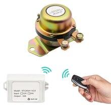 وحدة تحكم عن بعد كهرومغناطيسية لبطارية القارب مفتاح عزل 12 فولت + قفازات بطارية لولبية محطة طاقة السيارة