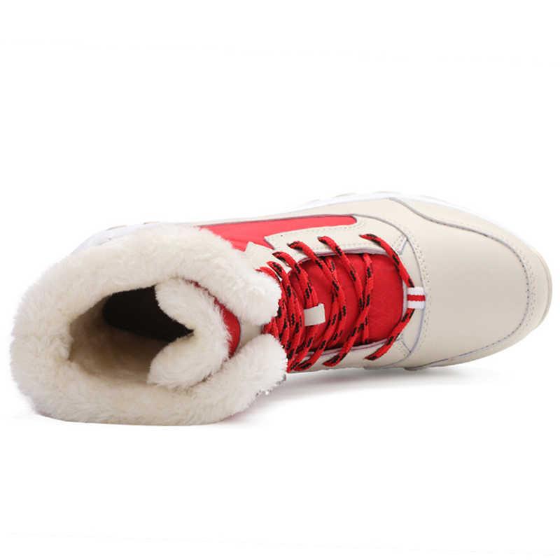 Kış Ayakkabı Kadın Çizmeler Artı Boyutu 42 Su Geçirmez Platform Çizmeler Kadınlar Için Kar Botları Kadın Kış 2019 Botas Mujer Siyah beyaz
