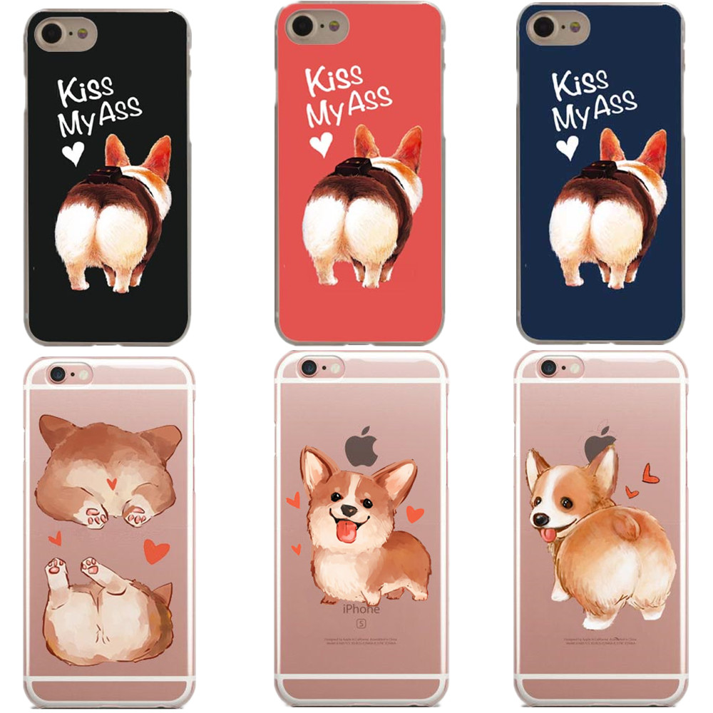 Cartoon animals <font><b>sexy</b></font> <font><b>girl</b></font> cute corgi dog Love kiss my ass Hard PC Phone <font><b>Case</b></font> for <font><b>iPhone</b></font> 5 5s SE 6 6S Plus <font><b>7</b></font> <font><b>7</b></font> Plus 8 8Plus X 10 image