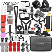 Vamson for gopro9 Tripod Mount Monopod Waterproof Housing Case Accessory Package for Go Pro Hero 9 Action Camera VS165