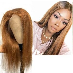 Image 3 - Prosto bordowy koronkowa peruka na przód Ali królowa 300% gęstość kolor Ombre brazylijski Remy ludzki włos peruki zamknięcie koronki peruki dla kobiet