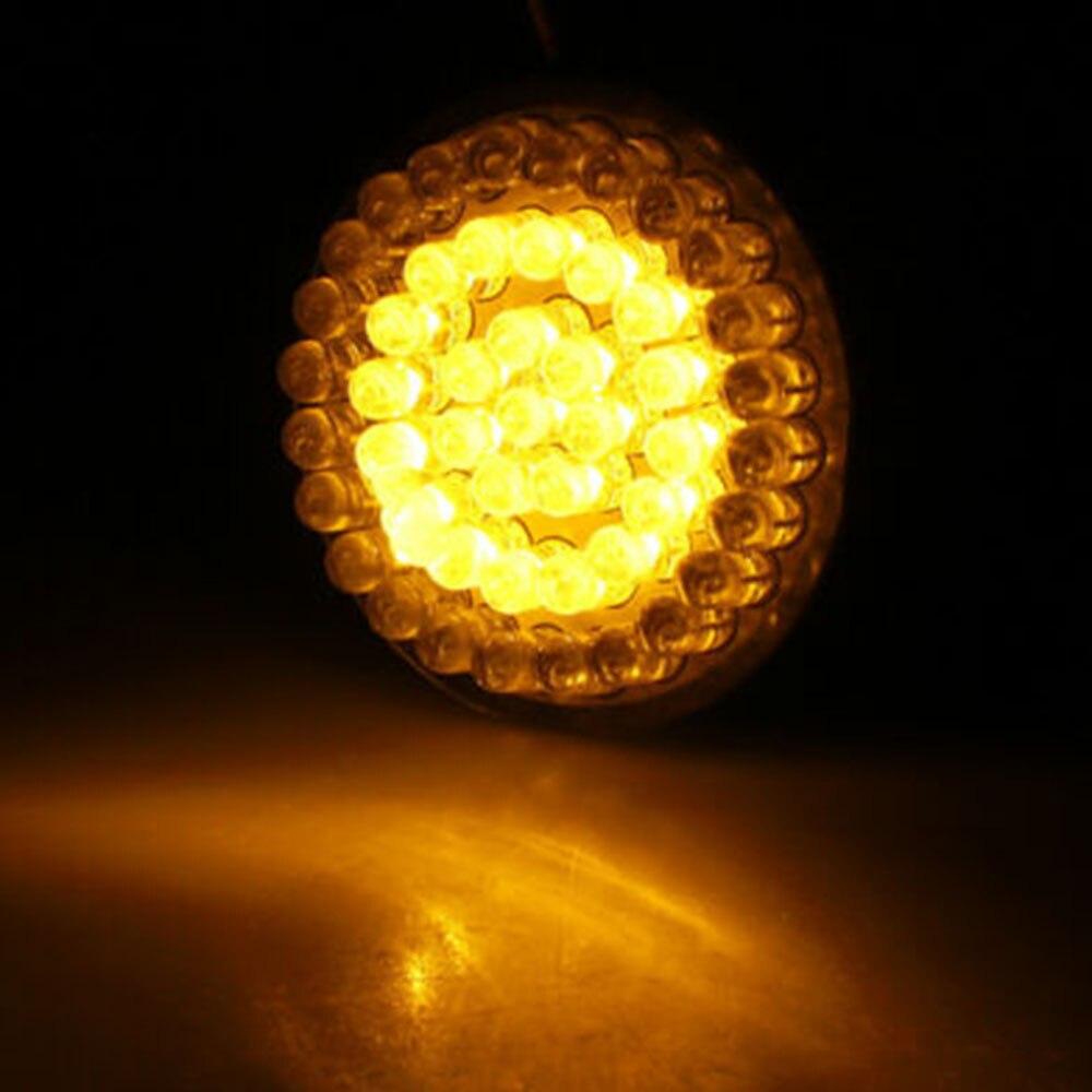 2pcs Motorcycle 48 LEDs Turn Signal Daytime Running Light Lamp 12V 24W Motorbike LED Turn Signal Light Universal