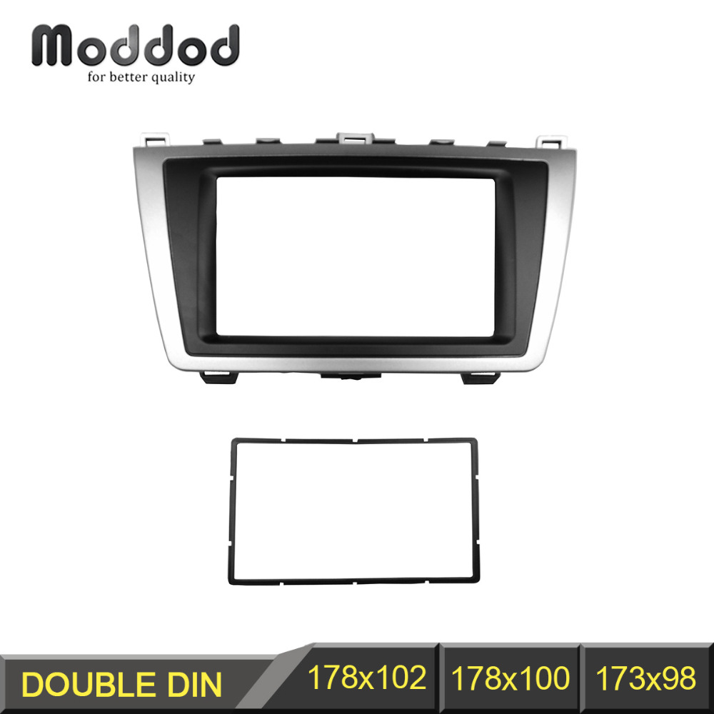 Double Din Stereo Panel for <font><b>Mazda</b></font> <font><b>6</b></font> Atenza 2008-2012 <font><b>Radio</b></font> Fascia Refitting DVD <font><b>Dash</b></font> Mount Install <font><b>Kit</b></font> Face Plate image