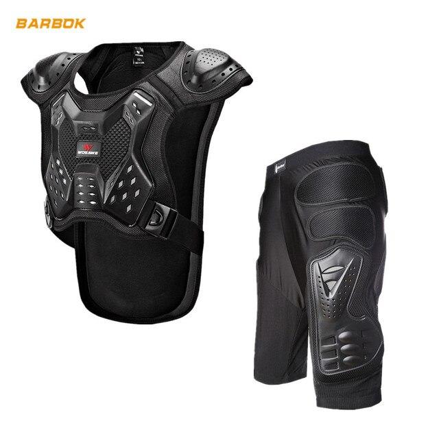 WOSAWE Motocross Body Armor Jacket Vest Gilet Protective Gear Shorts MTB Windbreaker Coat Chest Back Support Motorcycle Armor 1
