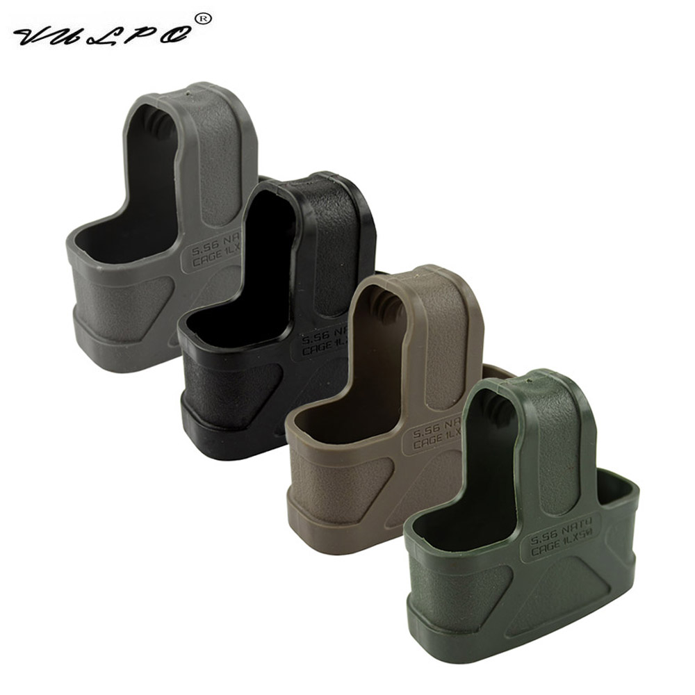VULPO 10pcs/NATO 5.56 Rubber Cage Loops Fast Mag For M4/M16 Magazine Assist BK/DE/Green/Gary