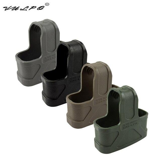 VULPO 10pcs/NATO 5.56 Rubber Cage Loops Fast Mag For M4/M16 Magazine Assist BK/DE/Green/Gary