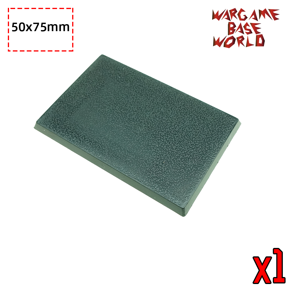 Wargame Base World -50 X 75 Mm Rectangle Bases For Warhammer