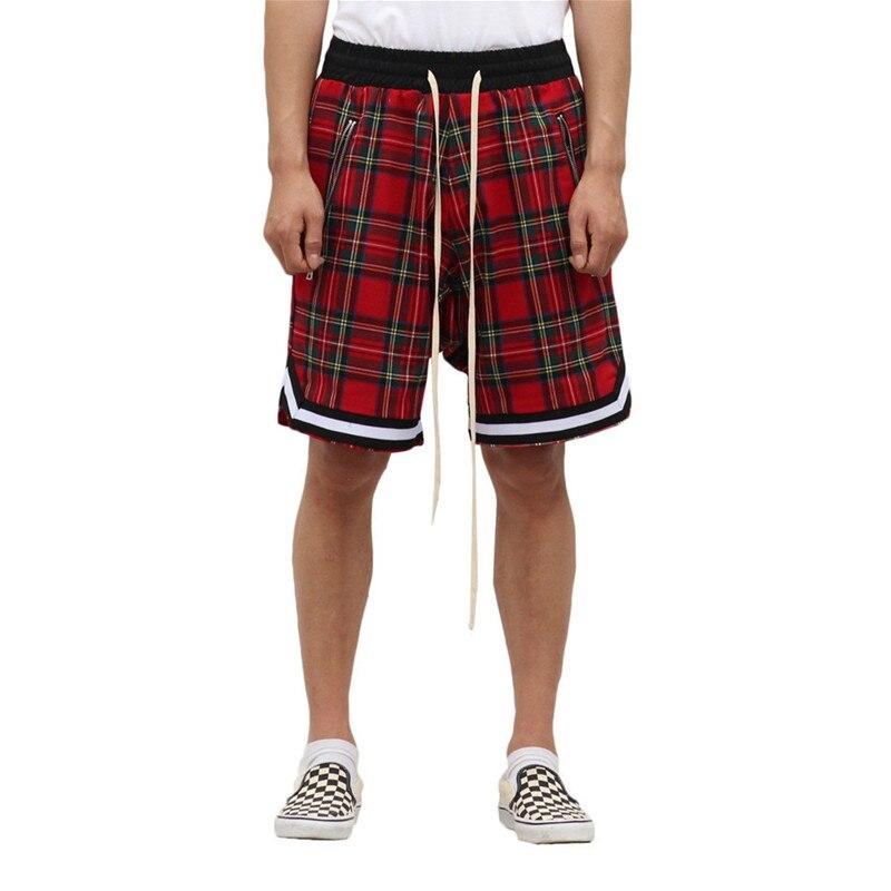 Shorts Zipper-Pockets Basketball Hip-Hop-Pants Scottish Justin Outdoor Sport Summer Casual